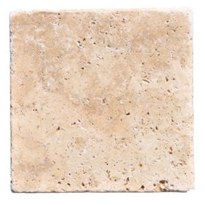 Premium Select 12x12 Pattern Ivory Swirl ® Tumbled Travertine Pavers