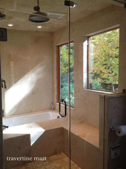 18x18_honed_travertine_shower