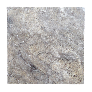 24x24 Silver Tumbled Travertine Pavers