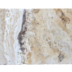Premium Select 6×12 Leonardo Tumbled Travertine Pavers