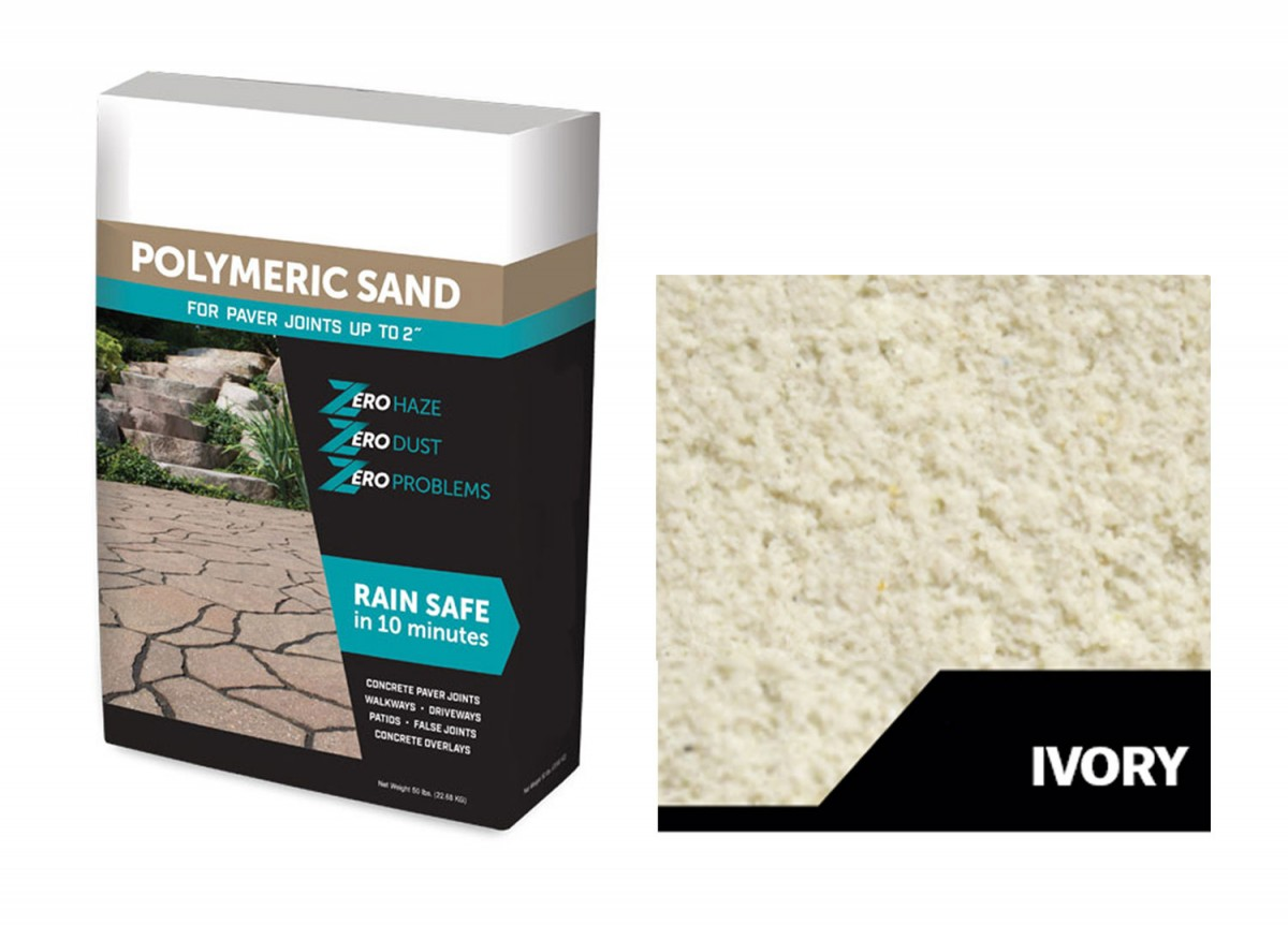 White bag of Ivory Polymeric Sand