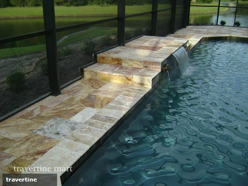 4 great uses for travertine in your backyard pool area