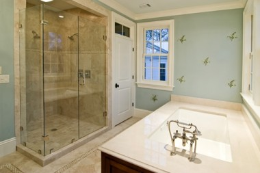 A shower with travertine tile is easier to maintain than you may think!