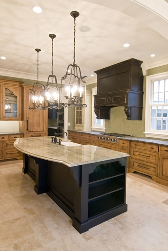 A Tuscan kitchen with travertine tile is truly authentic!