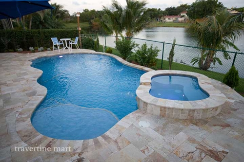 Can you use travertine pool coping for salt water pools?