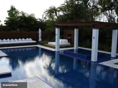 Get your pool patio ready for summer soirees with travertine