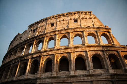 The Colosseum is just one example of a famous structure made of travertine.
