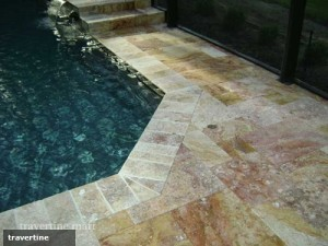 travertine pool coping is perfect for hotel pools