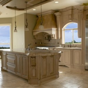 Where should you put travertine tile in your kitchen?