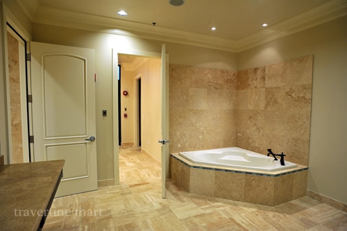 Travertine tiles will make your bathroom look and feel luxurious.